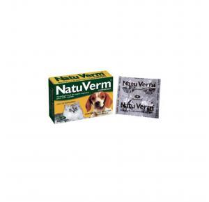 Vermífugo NatuVerm para Cães e Gatos com 4 Comprimidos Vetbras