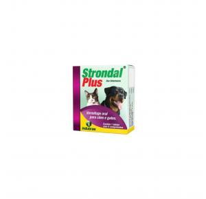 Vermífugo Strondal Plus com 4 Comprimidos Indubras