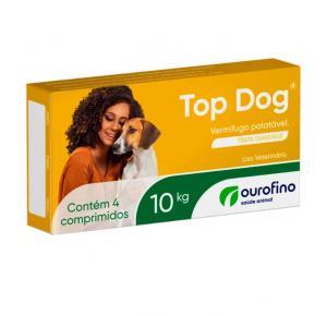 Vermifugo Top Dog  cães até 10kg (4 Comprimidos)
