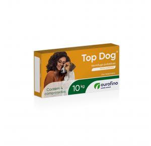 Vermífugo Top Dog Cães com 4 Comprimidos até 10kg Ourofino