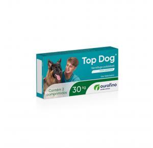 Vermifugo Top Dog para Cães de até 30 Kg com 2 Comprimidos Ourofino
