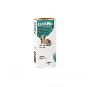Vermífugo para Cães Endal Plus com 4 Comprimidos MSD