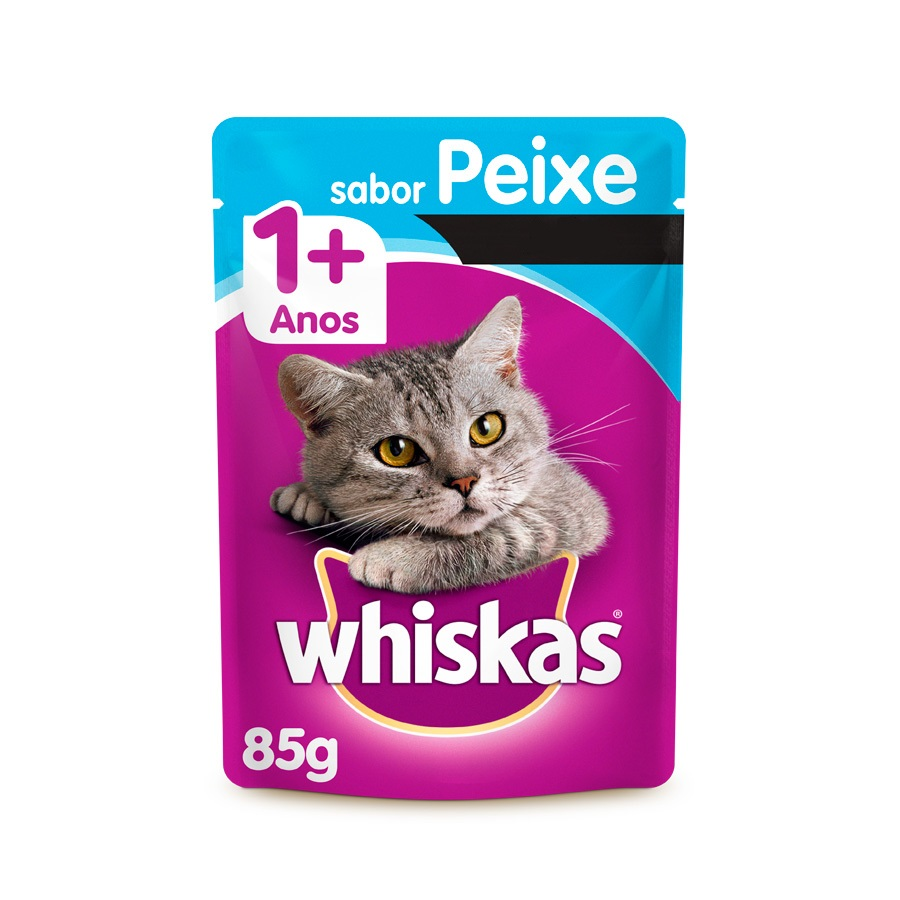 Whiskas Sachê para Gatos Adultos Sabor Peixe 85g