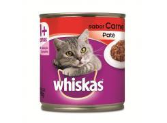 Whiskas Lata Patê para Gatos Adultos Sabor Carne - 290g