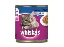Whiskas Lata Patê para Gatos Adultos Sabor Peixe - 290g