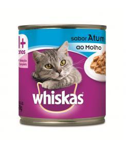 Whiskas Lata para Gatos Adultos Sabor Atum ao Molho - 290g