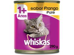 Whiskas Lata Patê para Gatos Adultos Sabor Frango - 290g