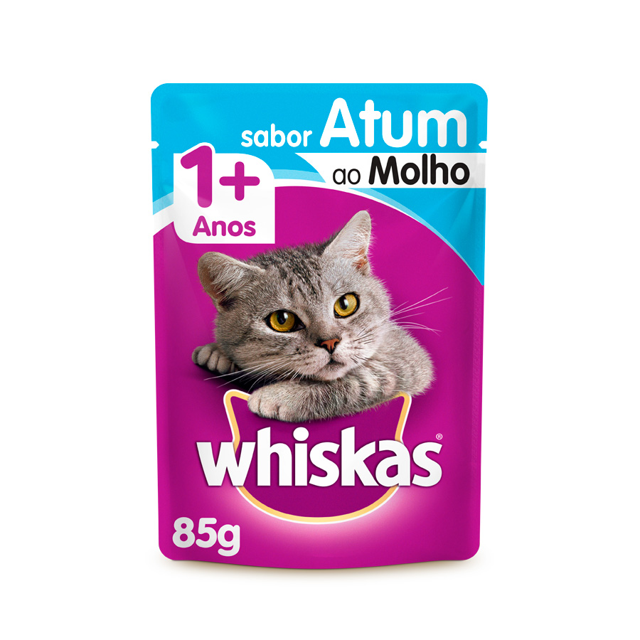 Whiskas Sachê para Gatos Adultos Sabor Atum - 85g