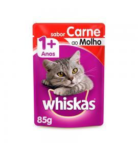 Whiskas Sachê para Gatos Adultos Sabor Carne - 85g