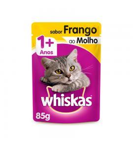 Whiskas Sachê para Gatos Adultos Sabor Frango ao Molho - 85g