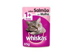 Whiskas Sachê para Gatos Adultos Sabor Salmão ao Molho - 85g