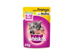 Whiskas Sachê para Gatos Filhotes Sabor Frango ao Molho - 85g