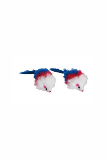 Brinquedo Ratinho Feltro Com Penas Home Pet - unidade