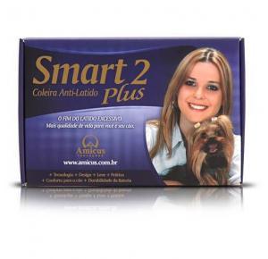 Coleira Antilatido Amicus Cães Smart 2 Plus Preta