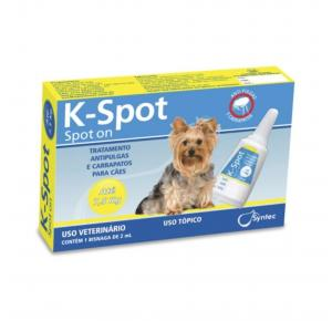 Antipulgas E Carrapatos K-Spot Syntec 2ml C/ 1 Bisnaga - Cães Até 7,5kg