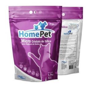 Areia Higiênica Micro Cristais de Sílica 1,5kg - Home Pet