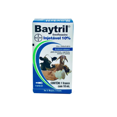 Baytril 10% 10ml injetável - Bayer