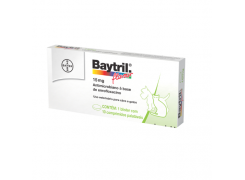 Bayer Baytril Flavour 15mg - 10 comprimidos