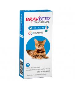 Bravecto Transdermal Antipulgas E Carrapatos para gatos 2.8 a 6.25 kg