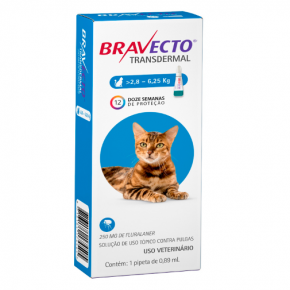 Bravecto Transdermal Antipulgas para gatos 2.8 a 6.25 kg