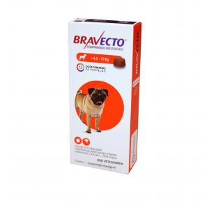 Bravecto Antipulgas e Carrapatos para Cães 4.5 a 10kg