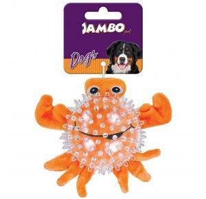 Brinquedo  para  cães Mordedor Pet Pelucia Spiky Ball Caranguejo Jambo