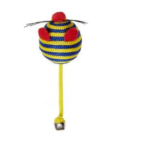 Brinquedo Home Pet de Gato Ratinho Colorido com  guizo