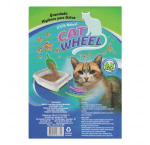 Cat Wheel Granulado de Madeira Para Gatos e Roedores 15kg
