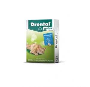 Vermífugo Drontal para Gatos com 4 comprimidos