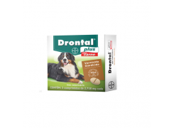 Vermífugo Drontal plus para Cães de 35kg com 2 comprimidos