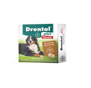 Vermífugo Drontal plus para Cães de 35kg (2comprimidos)