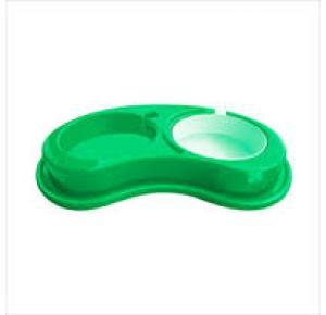 Comedouro Furacão Pet de Plástico Anti Formiga Luxo Duplo -G