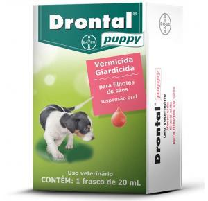 Vermífugo Drontal Puppy Suspensão Oral para Cães filhotes - 20mL