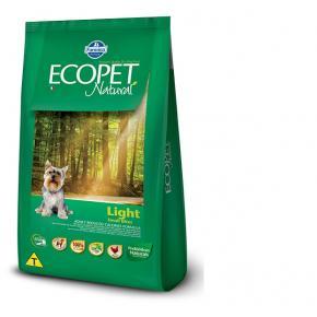 Ração Ecopet Light para Cães Adultos de Raças Pequenas - 3kg