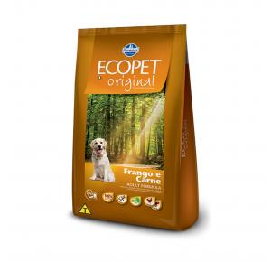 Ração Ecopet Frango e Carne Cães Adultos 15kg