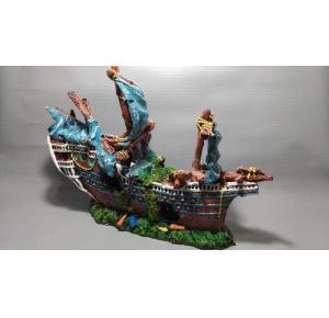 Enfeite Para Aquário Barco Escuna Ref 199 Lester