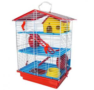 Gaiola Hamster 3 Andares Jel Plast