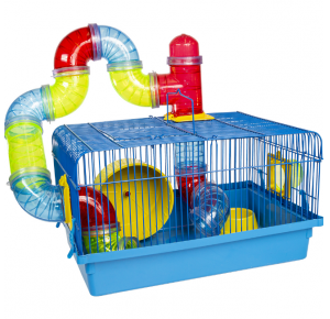 Gaiola Hamster Tubo Luxo Jel plast
