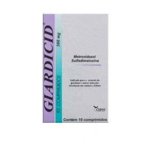 Giardicid Antibiótico 500mg  com 10 comprimidos