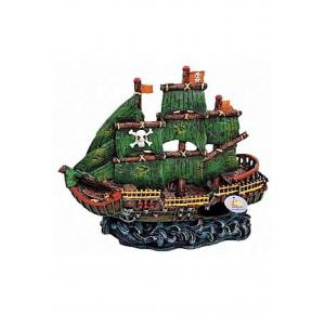 Enfeite Para Aquário Barco Pirata (179) Lester