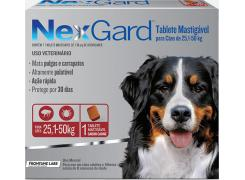 Tablet mastigáveis NexGard antipulgas e carrapatos para cães de 25,1 a 50 Kg 136mg