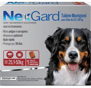 NexGard antipulgas cães de 25,1 a 50 Kg  - 1Tablet