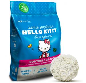 Areia Higiênica Hello Kitty Clássica Azul 2kg