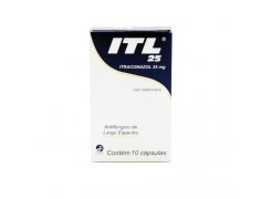 Itraconazol  25mg   ITL Cepav  com 10 Cápsulas