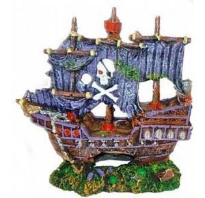 Enfeite Para Aquário Barco Pirata II Lester