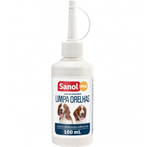 Limpa Orelhas Sanol Dog para Cães