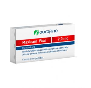 Maxicam Plus Ourofino 2mg - blíster com 8 comprimidos