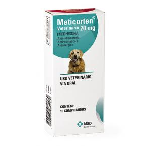 Anti-inflamatório, Antialergico Meticorten para Cães 20mg
