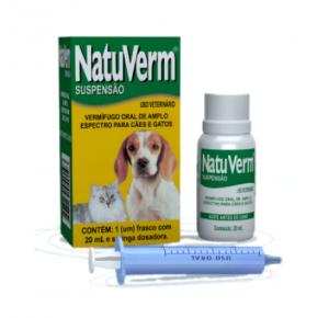 Vermífugo Natuverm  Para Cães - Suspensão Oral 20 Ml Vetbras