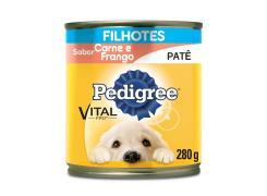 Pedigree Lata Patê Vital Pro para Cães Filhotes Sabor Carne e Frango - 280g